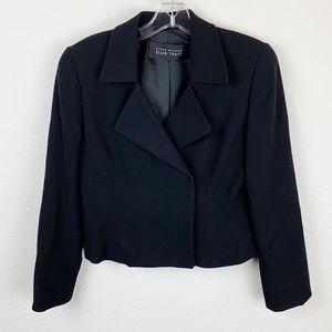 Linda Allard Ellen Tracy Black Wool Blazer G18